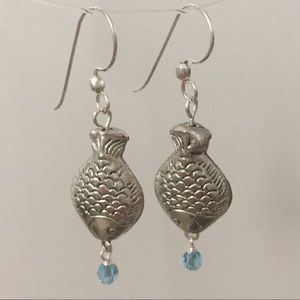 3 for $25 Handmade Silver Fish Earrings